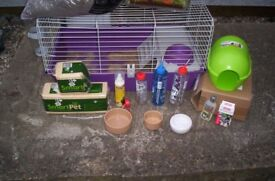 Ferplast Guinea Pig cage with other bits.