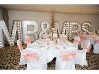 Wedding Flowers and decorations incl centrepieces, bouquets, ceremony decs, vases, silk flowers etc.