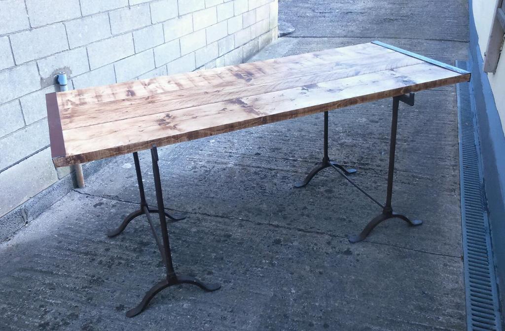 Stunning Vintage Industrial Trestle Table Part 36