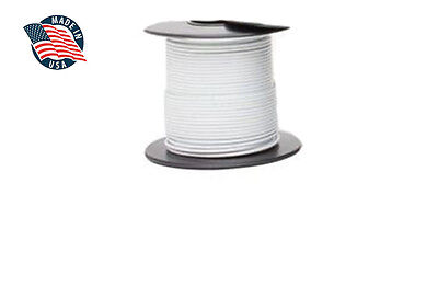 50ft Mil-spec High Temperature Wire Cable 22 Gauge White Tefzel M2275916-22-9