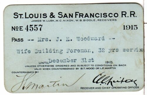 St Louis Southwestern Railway System 1903 Annual Railroad Pass