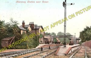 Kearsney Railway Station Photo. Shepherdswell to Dover and Walmer Lines. SE&CR