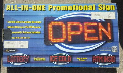 Everbrite All In One Scrolling Promotional Sign New In Box