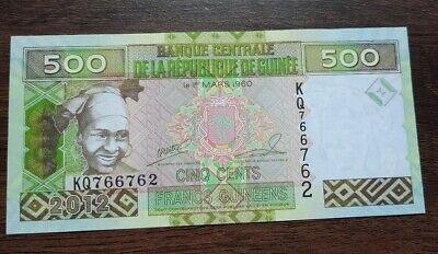 G10131 billet de banque du monde Guinée 500 francs 2012 neuf/unc