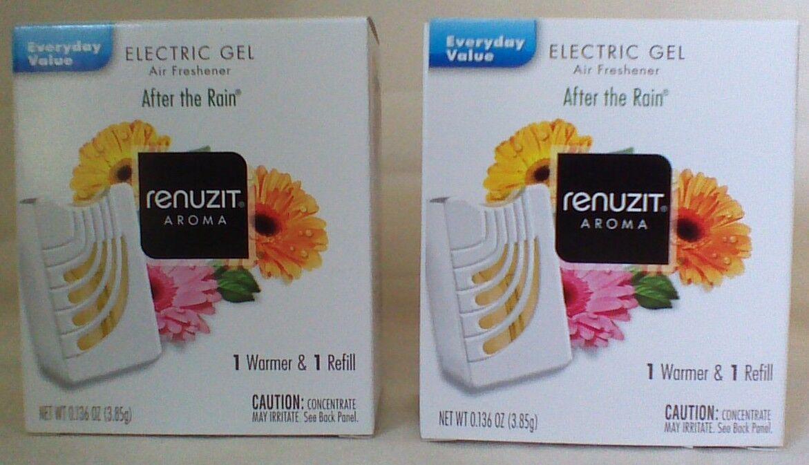 2 RENUZIT After The Rain ELECTRIC GEL Refills + 2 WARMERS