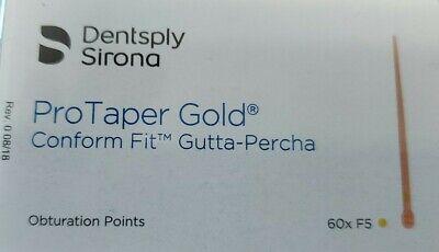 Protaper Gold F5 Gutta Percha Points Dentsply Tulsa Box Of 60 Dental Universal