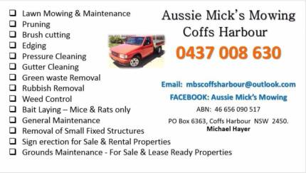 Aussie Mick's Mowing Coffs Harbour