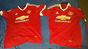 Genuine Manchester Utd L and M size Home Kit 2015/16 Manoora Cairns City Preview