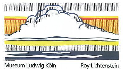 Roy Lichtenstein - Cloud and Sea - 1989 Serigraph Art Print 47x27.5
