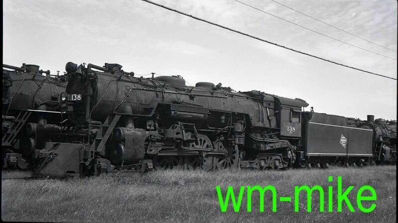 #B-089 Milwaukee Road 4-6-4 steam #138 ORIGINAL B&W Negative