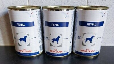 Royal Canin Renal Adult Wet Dog Food 3 x 410g Cans