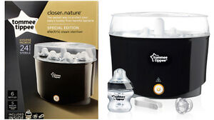 Tommee Tippee Closer to Nature Black Electric Steam Steriliser
