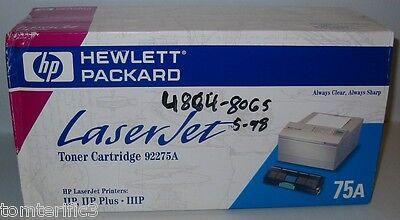 HP 75A 92275A Black Toner Cartridge OEM LaserJet IIP IIP Plus IIIP
