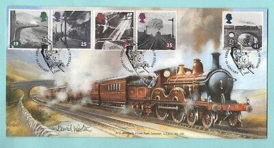 Bradbury 1994 The Age of Steam - Derby Special Postmark (Signed by Artist)