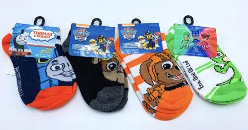 New 4 Pairs Boys Paw Patrol PJ Masks & Thomas Tank Engine Socks Size 4-6 Toddler