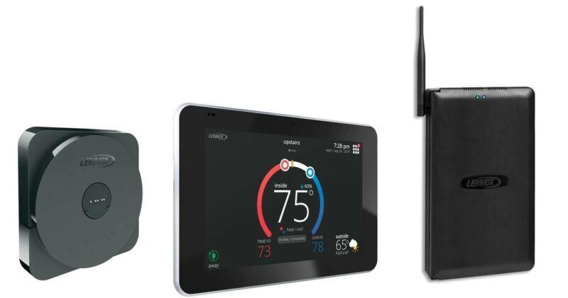 Lennox iComfort S30  Programable WiFi Touchscreen Ultra Smart Thermostat - Black