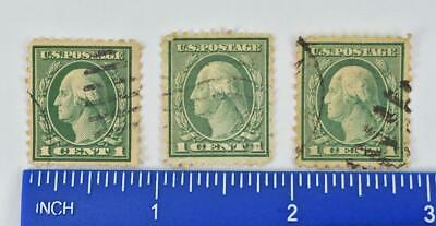Offset Print 1912 / 1922 GREEN George Washington RARE Stamp - All Three Stamps
