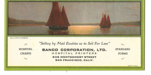 San Francisco Ca. Hospital Printers Banco Corporation Adv Blotter