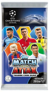 Topps Champions League 2016 2017 cards box 50 sealed packs (300 cards) - <span itemprop='availableAtOrFrom'>Bydgoszcz, Polska</span> - Topps Champions League 2016 2017 cards box 50 sealed packs (300 cards) - Bydgoszcz, Polska