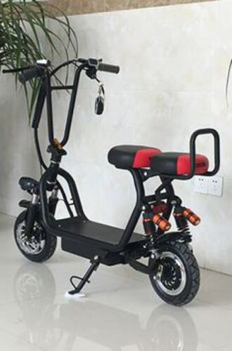 Dy 350w/48v Two Seater Electric City Coco Moped Scooter 20km/h /200kg Rider Wgt.