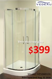 SHOWER TIME! Shower Doors & Bathtub/Thick Glass!On Sale!