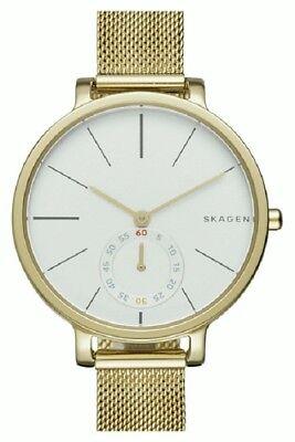 Skagen SKW2436 Women's Hagen White Dial Gold-tone Mesh Bracelet Watch