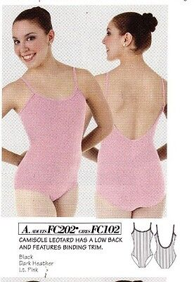 NWT Body Wrappers Classic Camisole Pink ch/ladies szs cotton rib dance leotard