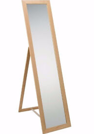 Wooden full length cheval mirror