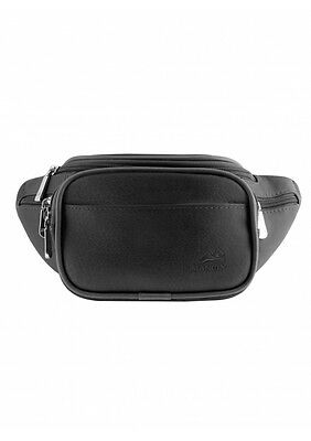 Mancini Leather Goods Classic Waist Bag 98210-Black