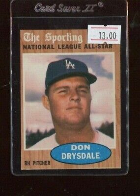 1962 Topps #398 Don Drysdale All-Star (1st Copy)