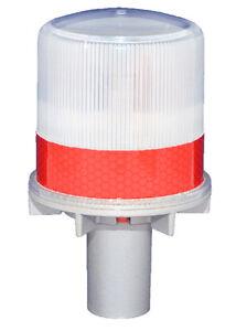 S4l Red Solar Led Flashing Light Barricade Flasher Traffic