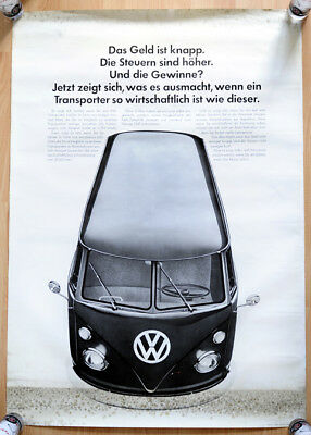 "orginal Plakat Werbe Poster ""Erster VW Bus T1"" 1967 Transporter Bulli rare"