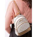 NWT Michael Kors Abbey XS Studded Mini Backpack Crossbody MK Vanilla Signature
