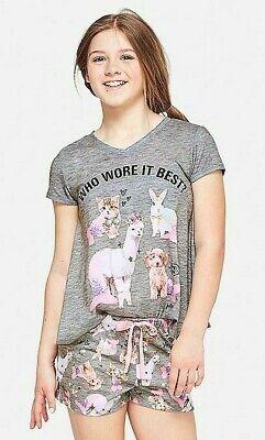 Best Girls Pajamas (NWT JUSTICE Girls Pajama Set Top/Shorts