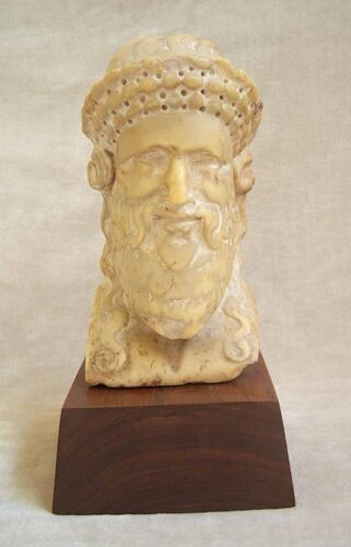 ANCIENT ROMAN MARBLE HEAD OF DIONYSOS FROM A HERM, circa 1st Century A.D.