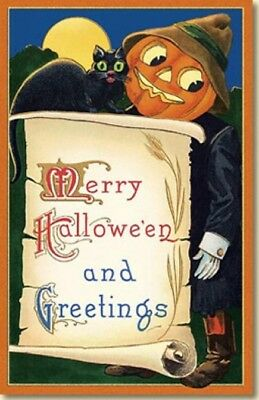10 Old World Christmas Halloween Cards: SCARECROW GREETINGS #89767 Retired!