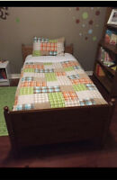 ABSOLUTE MINT CONDITION TWIN BED AND MATTRESS!!