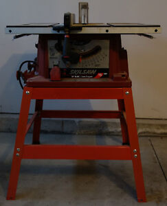 """Skilsaw Model 3400 Table Saw 15A / 10"""" Blade with Stand"""