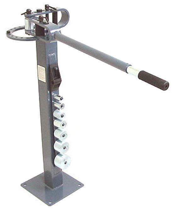 """Pedestal Floor Tube Pipe BENDER Bending Metal Fabrication Manual 1"""" to 3"""" Dies"""