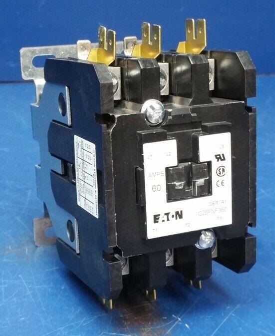 Eaton Cuttler-Hammer C25FNF360A Definite Purpose Contactor 3-Pole 60A 120V
