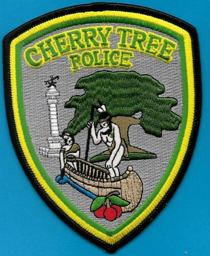 CHERRY TREE PENN PA POLICE DEPT MONUMENT CANOE INDIAN CPD TPD PD (FIRE) EMBLEM