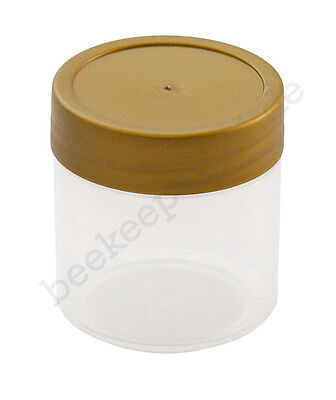 20 Stück Honig-Probeglas 35 ml mit Deckel, Kunststoff, Honigglas, Honiggläschen