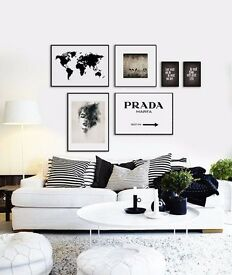 PRADA white sign print | Wall art Canvas
