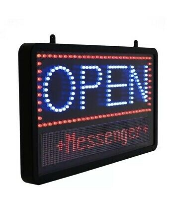 Alpine 20.5 X 12.75 Led Open Business Sign Programmable Led Message Black