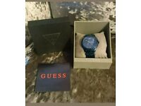 Guess Blue Indulge Animal Print Watch NEW with tags. Originally £189. W0502L4