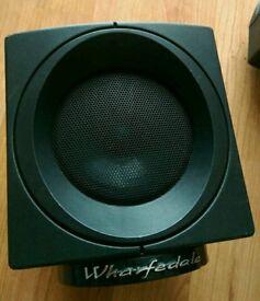 2 x Wharfedale Speakers Home Cinema Tweeters Black Small