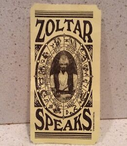 Zoltar Speaks Paper Fortune Yellow Characters Unlimited  BIG Unexpected Wealth