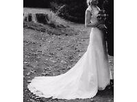 Ivory Lace Wedding Dress - size 10