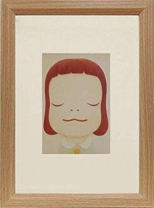 Yoshitomo Nara [Cosmic Girl - Eyes Closed] Art print With frame Offset Pop Art
