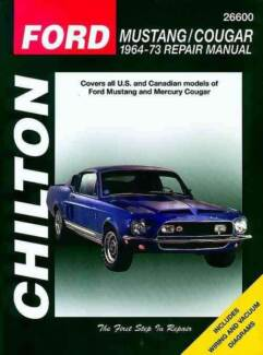 Ford Mustang & Mercury Cougar 1964 - 1973 Chilton Manual Blacktown Blacktown Area Preview